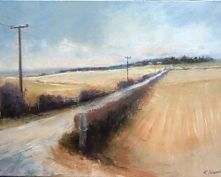 Oil on canvas | |From Chalbury Hill to North Farm, Horton | © Copyright 2013 Roger Dell Seddon