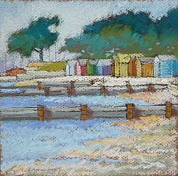 Pastel | |Beach Huts at Hamworthy | © Copyright 2013 Roger Dell Seddon