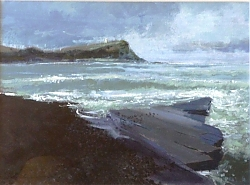 acrylic | |A good south-westerly, Kimmeridge | © Copyright 2013 Roger Dell Seddon