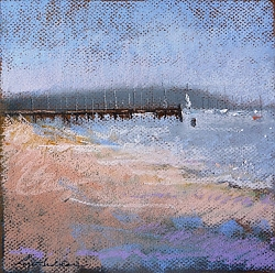 Pastel | |Lake Pier, Poole Harbour #2 | © Copyright 2017 Roger Dell Seddon