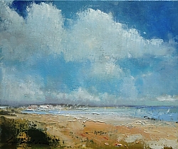 Oil on canvas board |25cm x 30cm |Shell Bay, Studland, Dorset | © Copyright 2017 Roger Dell Seddon