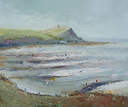 Oil on panel |30cm x 41cm |Above Washing Ledge, Kimmeridge Bay | © Copyright 2017 Roger Dell Seddon