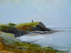 Oil on panel |30cm x 41cm |February morning, Kimmeridge | © Copyright 2017 Roger Dell Seddon