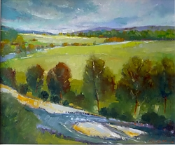 Oil on panel |51cm x 61cm |Ruskin's View, Kirkby Lonsdale | © Copyright 2019 Roger Dell Seddon