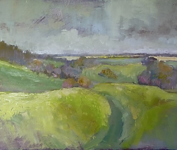 Oil on panel |31cm x 36cm |From Buzbury Rings | © Copyright 2019 Roger Dell Seddon