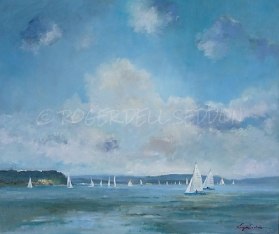 <h3>Yachting in Poole Harbour</h3>&nbsp;|&nbsp;&copy;&nbsp;Copyright&nbsp;2018&nbsp;Roger&nbsp;Dell&nbsp;Seddon&nbsp;|&nbsp;Oil on panel&nbsp;|51cm x 61cm
